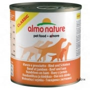Almo Nature Classic Beef & Ham Dog Food 6 x 290g