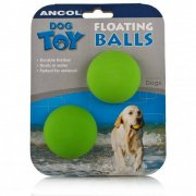 Ancol Floating Rubber Tennis Dog Balls x 2