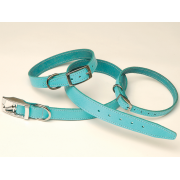 "Plain Leather Collar 1/2"" x 10""-12"""