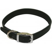 "Plain Leather Collar 1"" x 18""-21"""