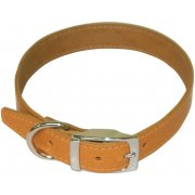 "Plain Leather Collar 3/4"" x 14""-16"""