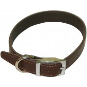 "Plain Leather Collar 3/4"" x 16""-18"""