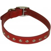 "Studded Leather Collar 3/4"" x 16""-18"""