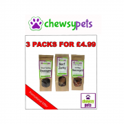 Chewsy Pets Promo Offer, Jerky, Black Pudding & Hot Dogs