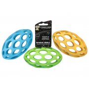Cyber Dog Lattice Rugby Ball Dog Toy