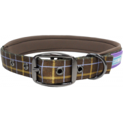 Dog & Co Padded Buckle Collar Brown. 4 Sizes Available