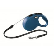 Flexi Classic Blue Cord Retractable Dog Lead