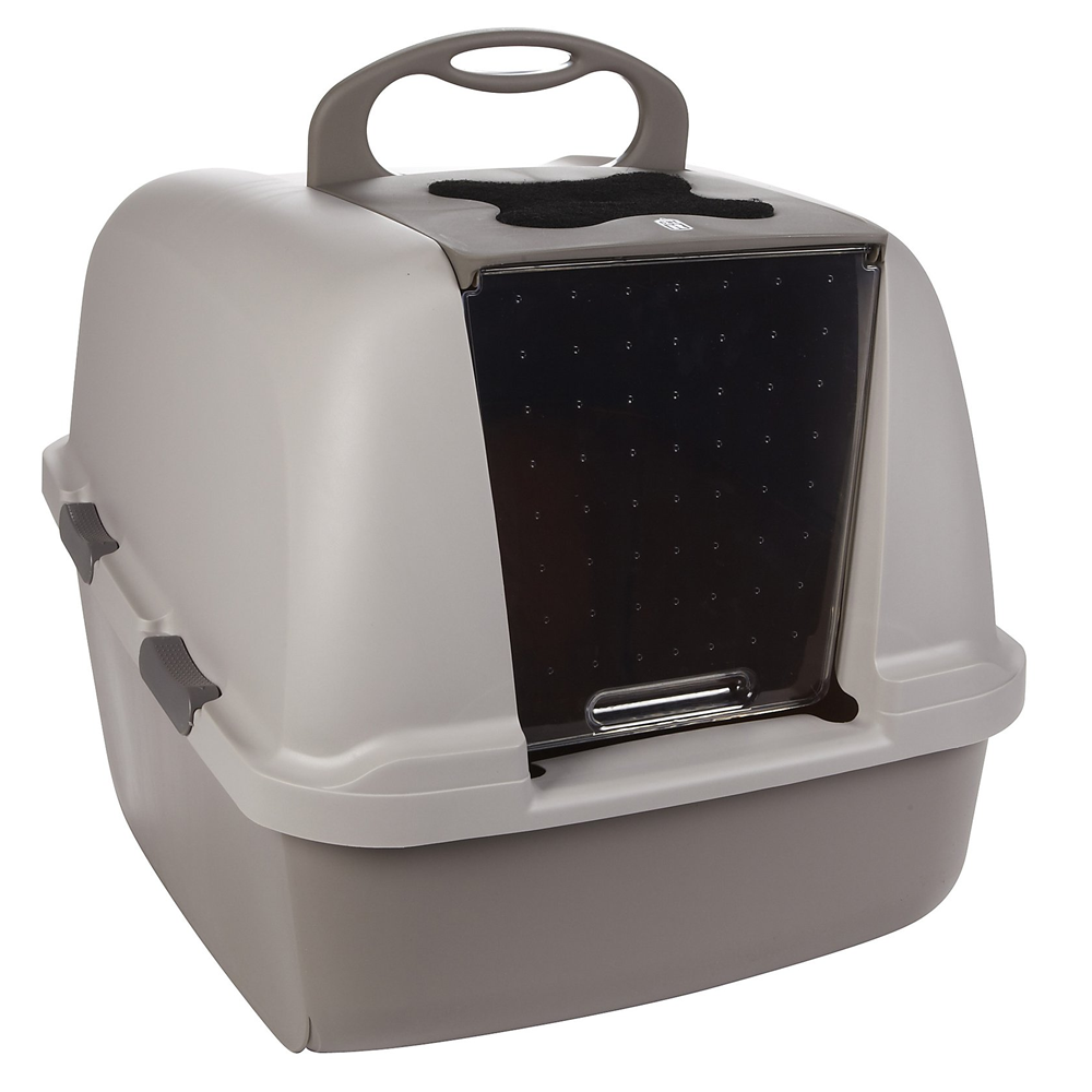 image covered cat litter. Cat It Jumbo Hooded Litter Tray Box Image Covered