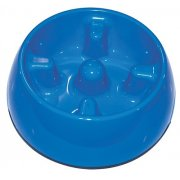 Hagan Dog It Go-Slow Anti-Gulping Dog Dish 1.2 litre Blue