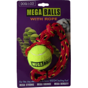 Dog & Co Mega Ball with Rope Small