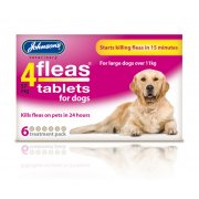 Johnsons 4 Fleas Dogs 6 pack