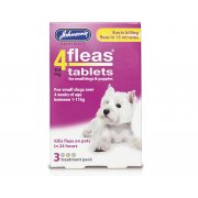 Johnsons 4 Fleas Small Dogs 3 pack