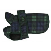Outhwaite Blackwatch Tartan Padded Dog Coat With Underbelly