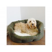 40 Winks Green Country Tweed and Plush Dog Bed