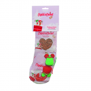 Cupid & Comet Christmas Dinner Cat Stocking