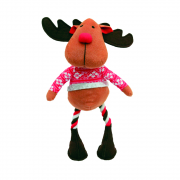 Cupid & Comet Christmas Dog Toy Russell Reindeer