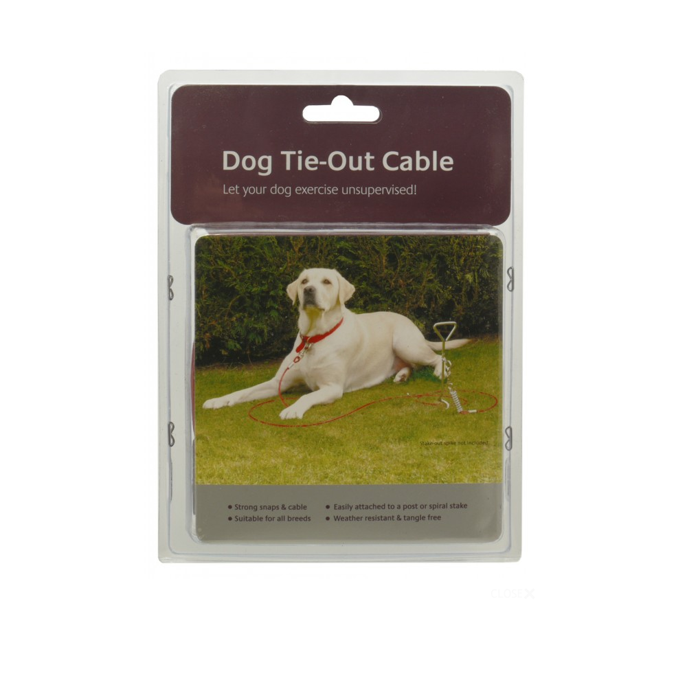 Rosewood Dog Tie Out Cable 20ft From The Pet Warehouse Uk