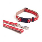 Rosewood Wag'n'Walk Fashion Brown & Red Bone Print Collar 3 Sizes Available