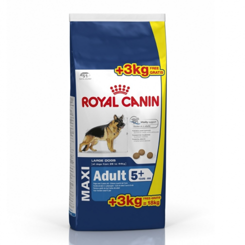 royal canin maxi adult 5 15 3kg extra free
