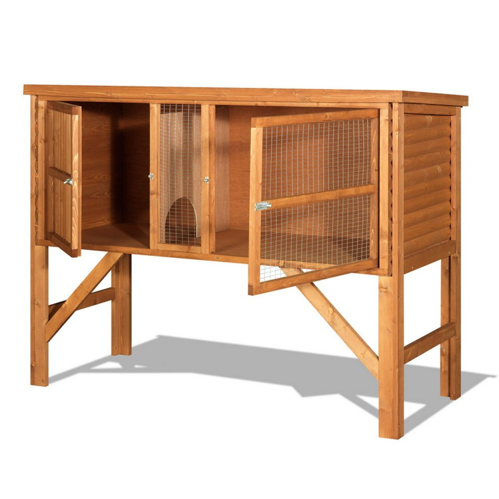 The hutch company fort william 4ft rabbit guinea pig hutch for How to build a guinea pig hutch