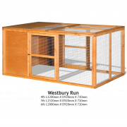 The Hutch Company Westbury Rabbit Run 4ft