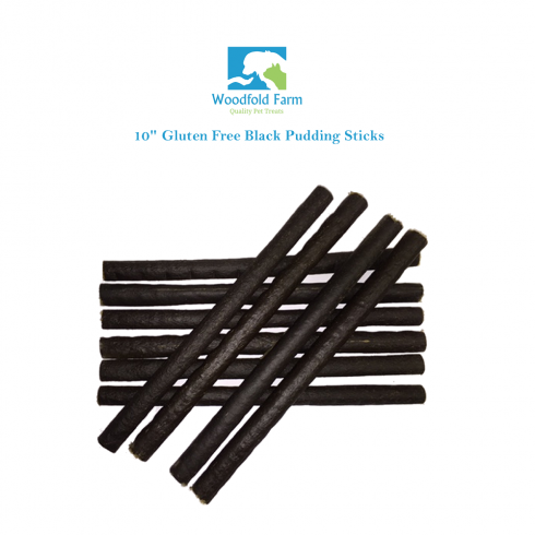 "Woodfold Farm 10"" Black Pudding Sticks Dog Treats"