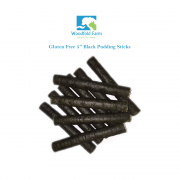 "Woodfold Farm 5"" Black Pudding Sticks Dog Treats x80"